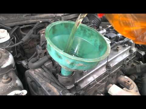 Промывка двигателя (соляркой) + замена масла