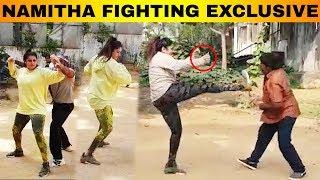 Agambavam Shooting Spot   Namitha Fighting