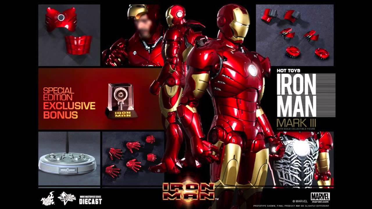 Iron Man Hot Toys Mark III DIECAST 1/6 Scale Movie Figure ...
