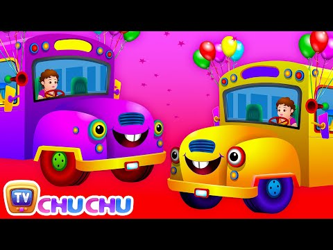 Wheels On The Bus Go Round And Round Rhyme With Lyrics - English Nursery Rhymes For Children video
