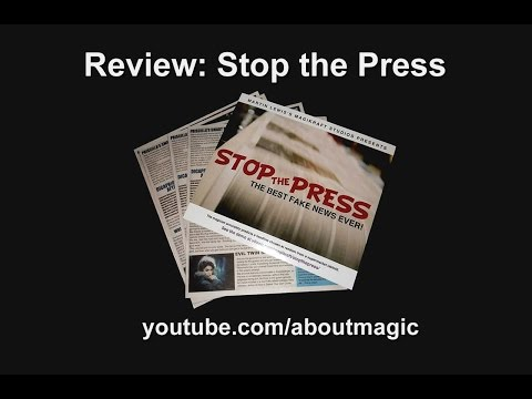 Magic VLOG: Predict a Headline. Martin Lewis' Stop the Press - Review