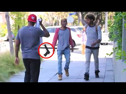 Throwing Guns in Public (PRANK GONE WRONG) Pranks in the Ghetto - Funny Pranks - Best Pranks 2014