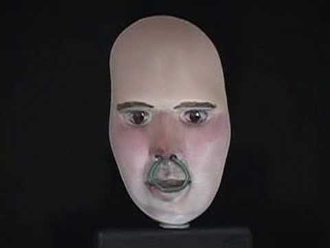 3D face optical illusion: Rolling eyes on hollow mask Music Videos