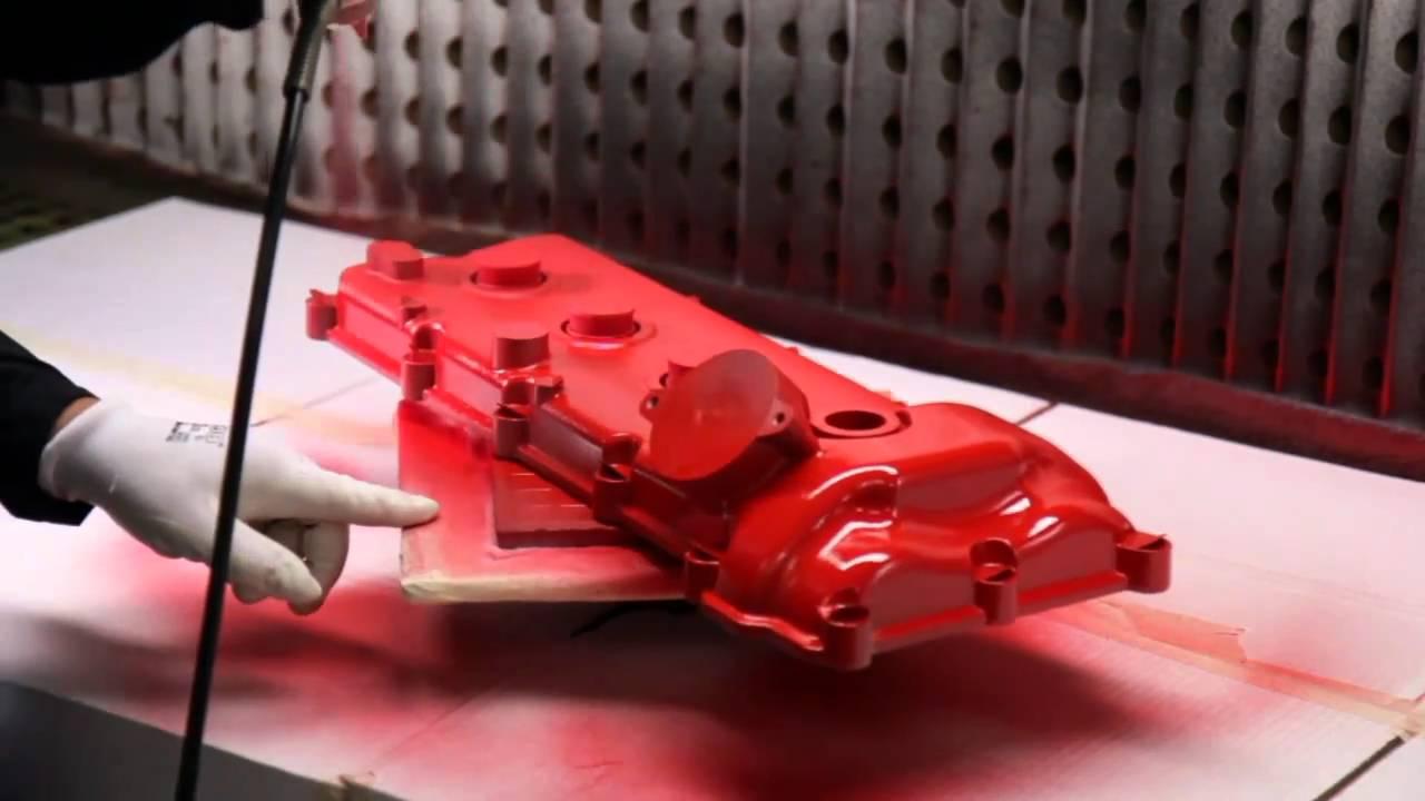 Ferrari Red Wrinkle Engine Paint