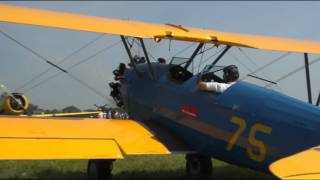 Stearman Group  Geneseo 2008  Radial Engine Sound