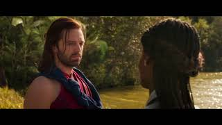 Black Panther (2018) Post Credits Scene (1080p HD) Bucky and Shuri Meeting