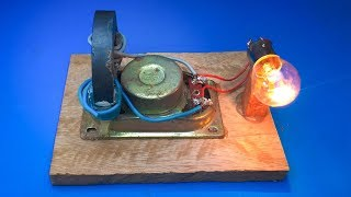 Magnets Coil Generator Using Speaker - Science Experiment Project 2018