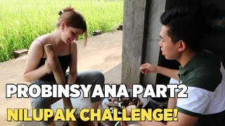 Probinsyana part 2. Making and trying Province snack ( Ang galing bumayo ni Vika sa nilupak)