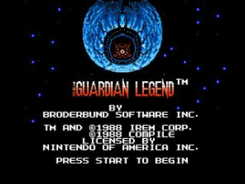 Misc Computer Games - The Guardian Legend - Title Screen