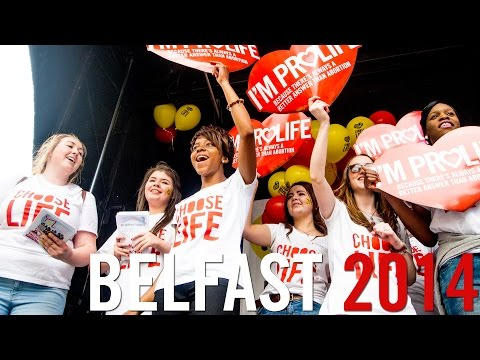 All Ireland Rally for Life : Belfast : 5 July 2014 : Thousands march against abortion