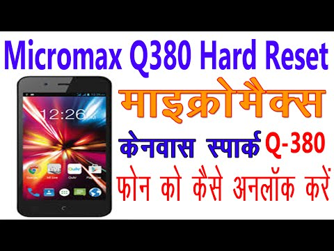 [Hindi] How To Hard Reset Micromax Canvas Spark Q380   Unlock Pattern Password