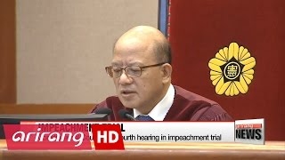 download Constitutional Court holds fourth hearing in impeachment trial Video