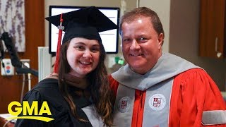 Not even going into labor could stop this mom from getting her MBA