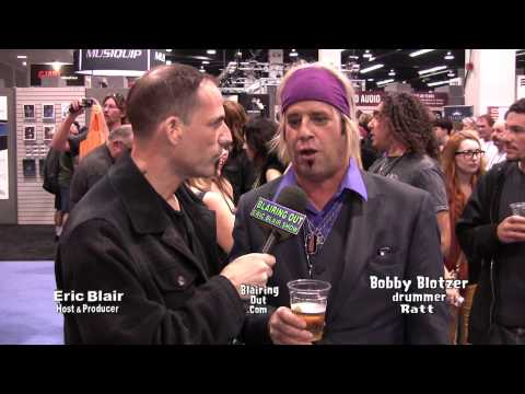 RATT's Bobby Blotzer talks w Eric Blair about the future of Ratt @ NAMM 2013