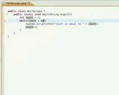 Java Video Tutorial 16: How to use While Loops - YouTube