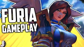 FURIA GAMEPLAY! New Champion OP? Plus Reset Build!  Paladins 1.1