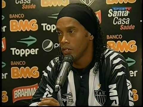 Coletiva Ronaldinho Gaúcho na apresentação ao Atlético Mineiro Sportv