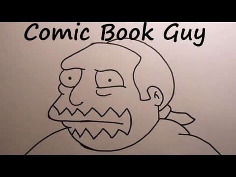 Simpson Drawing Book 34th Drawing Comic Book Guy