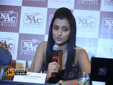 Actress Trisha at NAC Jewellary Press Conference