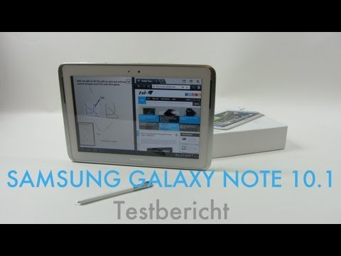 Samsung Galaxy Note 10.1 Testbericht - Deutsch (Full HD)