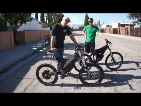 Stealth Bomber VS. HPC XC-2 4500W Electric Bike Comparison and Race