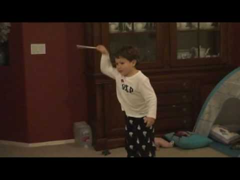 3 year old Jonathan conducting to the 4th movement of Beethoven's 5th Symphony Music Videos