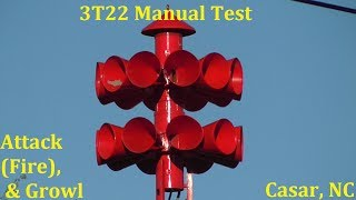 3T22 Outdoor Warning Siren Manual Test, Attack (Fire) and Growl - Casar, NC 5/8/17