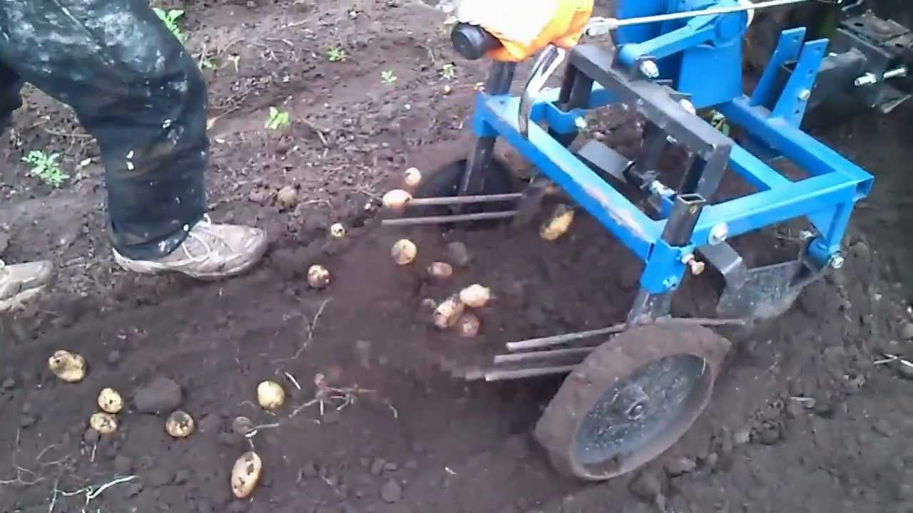 Самодельная картофелекопалка на мотоблок своими руками 35