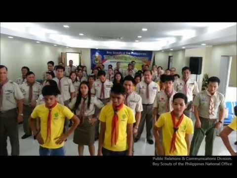 "Boy Scouts of the Philippines (BSP) National Office staff join the ""Gangnam Style"" craze during the 76th BSP Founding Anniversary Celebrations. The BSP Natio..."
