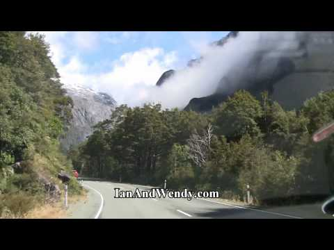 Stunning scenery while driving the road to Milford Sound, New Zealand. In 1080P HD