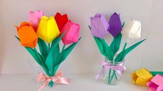 折り紙でつくる春の花【簡単な折り方・作り方】