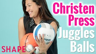 Soccer Star Christen Press Juggles Balls | Shapes