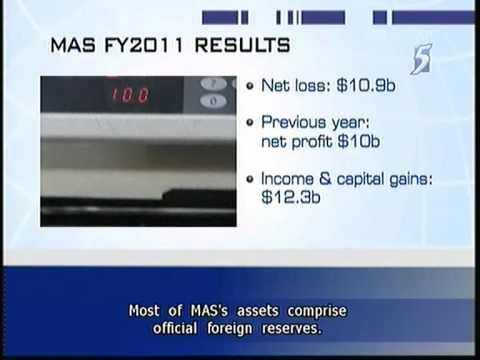 MAS records net loss of S$10.9billion - 21Jul2011