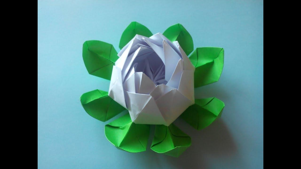 Поделки из бумаги цветок кувшинка