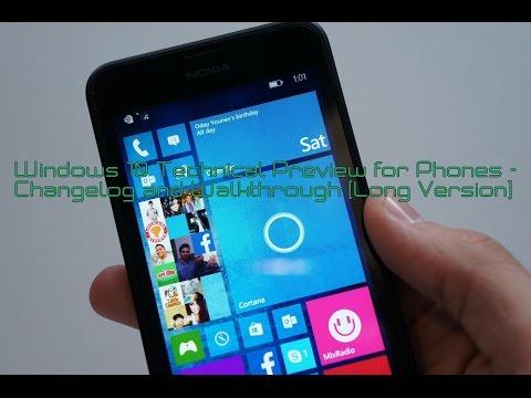 Windows 10 for Phones Detailed Changelog Walkthrough (Long Version)
