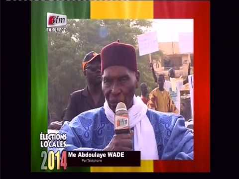 Déclaration d'Abdoulaye Wade