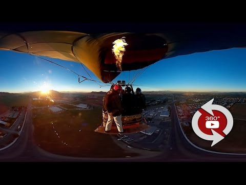 360 Camera - Wingsuit Balloon Rope Swing