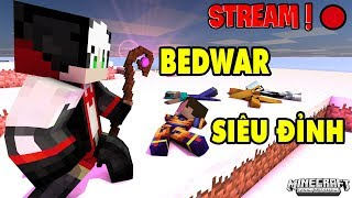 REDHOOD CHIẾN BEDWAR SIÊU ĐỈNH THẮNG LIÊN TỤC TRONG MINECRAFT*Redhood Stream Minecraft Bedwar