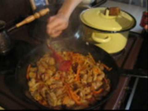 Перловая каша с мясом - Guiso de cebada perlada