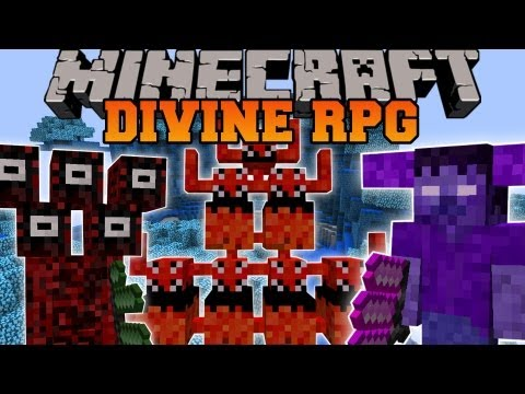 Minecraft: DIVINE RPG (DIMENSIONS, BOSSES, MOBS, PETS, WEAPONS, ARMOR) Divine Rpg Mod Showcase