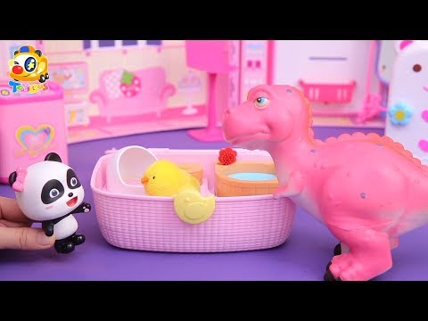 Dinosaur Story,Panda Fireman Rescue Team, Baby Panda's Cooking Competition| Kids Toys Story | ToyBus