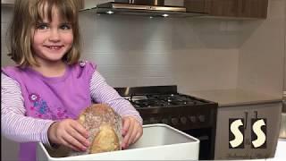 Solander Skelf Bread Box with Cutting Board Lid