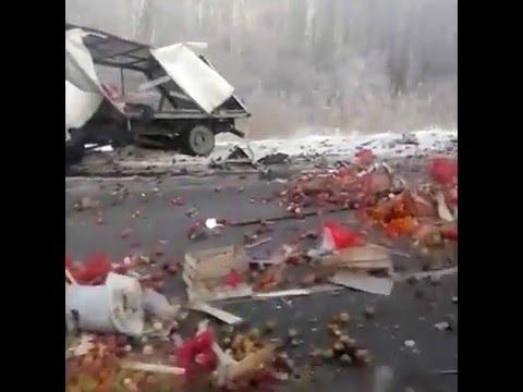 Авария под Богдановичем 18 12 2015 трасса Тюмень - Екатеринбург