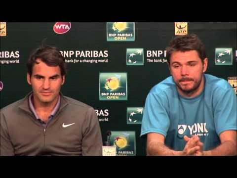 BNP Paribas Open: Roger Federer/Stanislas Wawrinka First Round Press Conference