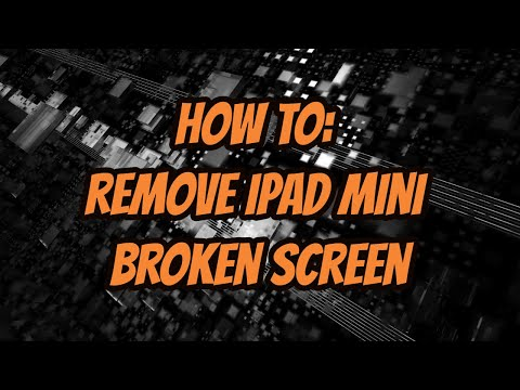 How to Remove iPad Mini broken Digitizer / Touch Screen