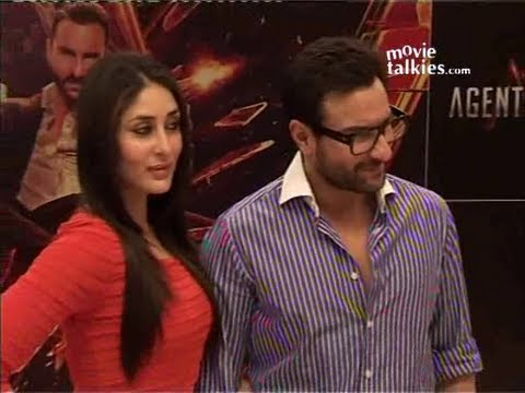 Saif Ali Khan & Kareena Kapoor At 'Agent Vinod' Promotion