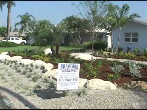 Bradford Landscaping Commercial - Waterfront Xeriscape Design Before and After