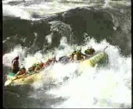 white water rafting in africa, zambezi river - i almost died, 2005