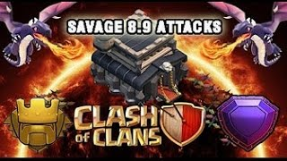 TH9 VS TH11 Legend Attacks! Clash of Clans!