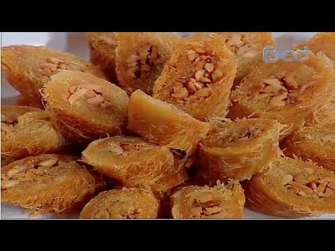 الكنافه البورمه والعسليه على طريقة الشيف #قدري  من برنامج #حلواني_العرب #فوود